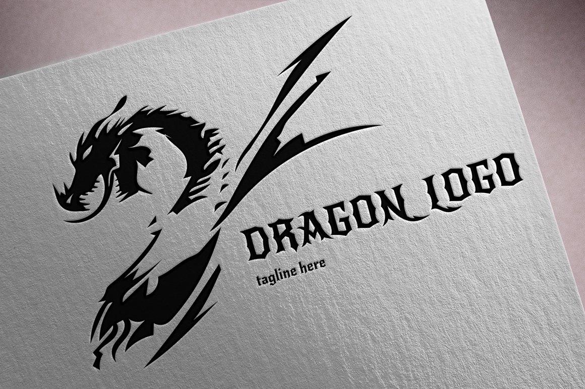 Dragon Logo ~ Logo Templates ~ Creative Market  Dragon Logo ~ L...