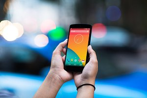 Nexus5 Template, Blue Taxi (L)