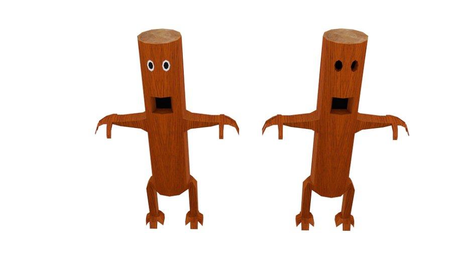 Monster Log Character