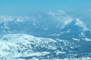 Winter Alps mountain panorama