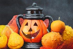 Halloween pumpkin with decoration #5