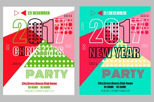 Christmas and New Year Party Flyers
