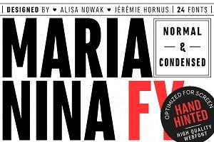 Marianina FY (24 fonts)