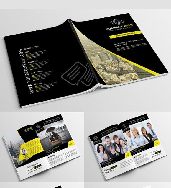 company profile psd brochure templates creative market