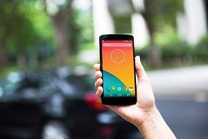 Nexus5 Template, Road Side (L)