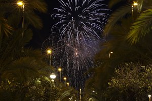 Castle Fireworks in Elche
