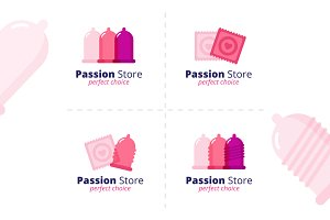 Sex Shop Logos Set