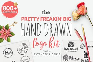 Big Hand Drawn Logo Kit