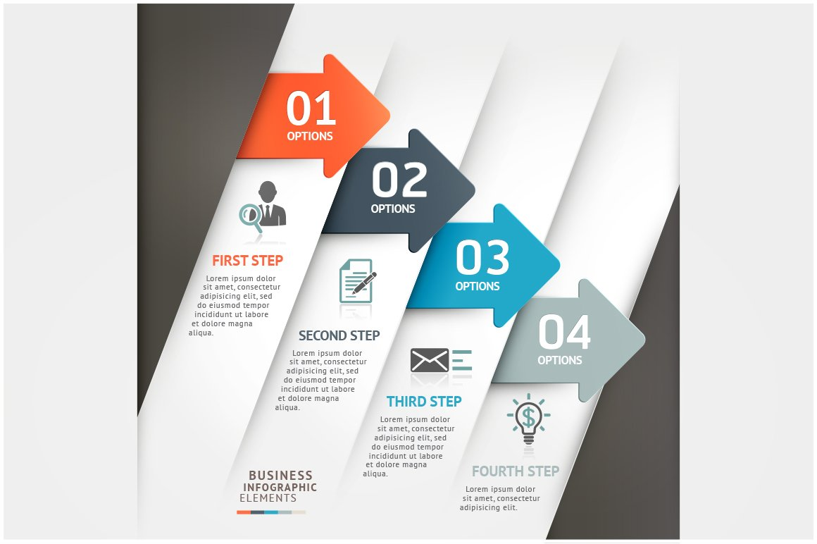 business arrow infographic template presentation templates