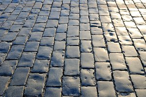 Cobblestones pavement