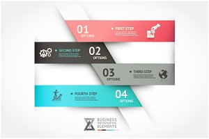 Modern Infographic Origami Template