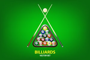 Billiards illustrations.