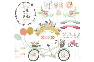 Wedding Floral Vintage Bicycles