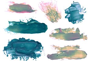 abstract acrylic brush strokes blots
