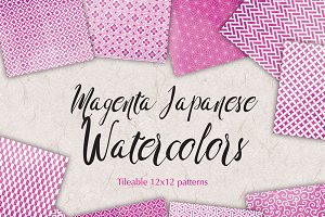 Magenta Watercolor Background Paper