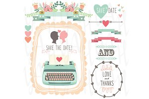 Wedding Vintage Typewriter clipart