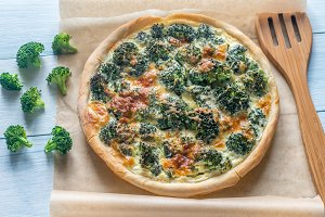 Set Of Pie With Broccoli And Cheese
