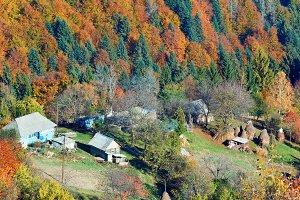 Autumn Carpathian mountain, Ukraine