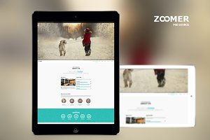 ZOOMER - Onepage PSD template