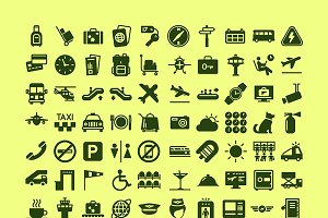 100 Airport icons