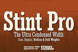 Stint Ultra Condensed Pro Family