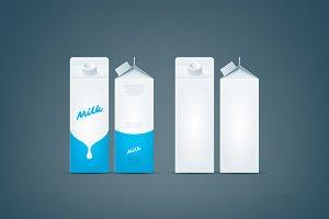 Carton box milk mock-up
