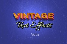 Vintage Retro Text Effects - Vol.1