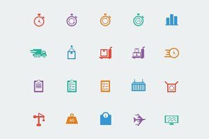 Logistics & Transport Icons