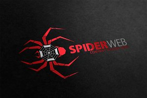 Spider Web Logo Template