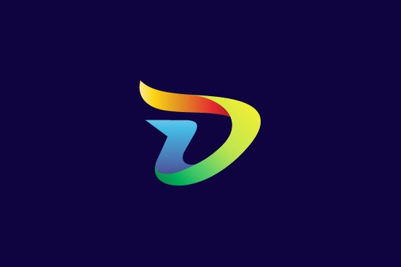 Colorful letter d logo logo templates creative market thecheapjerseys Images