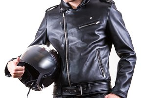 wear black leather jacket in jacket
