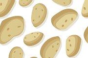 Potatoes Seamless Pattern