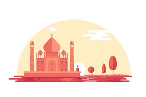 Beautiful Illustration of TAJ
