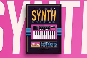 Synthesizer Music Flyer