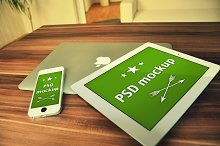 6 PSD Mockups - Apple devices #1