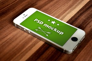 Psd Mockup - iPhone 5 white