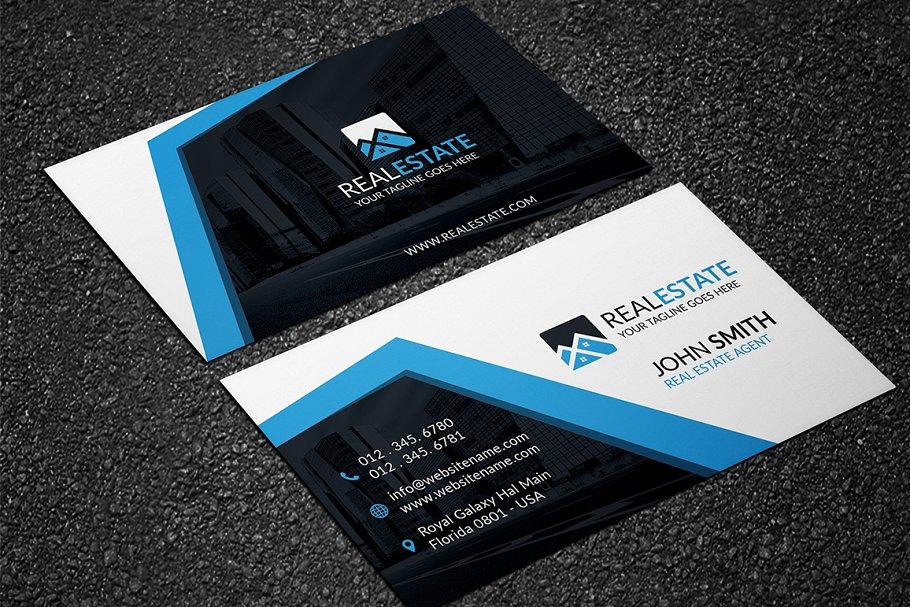 Modern Real Estate Business Card   Creative Business Card ...
