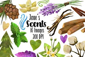 Nature Scented Themed Items Clipart