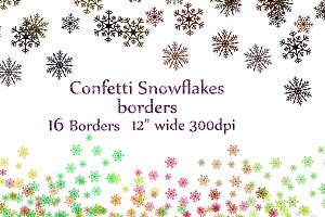 Snowflake confetti clipart