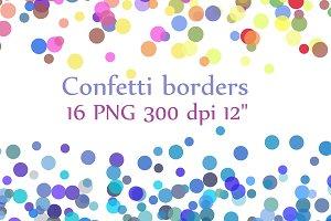Confetti Borders clipart