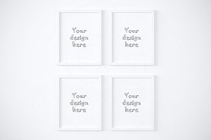 "Clean 4 mockup set 11x14"" frames"