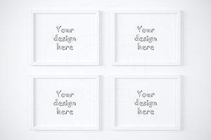 "4 horizontal 11x14"" frame mockups"