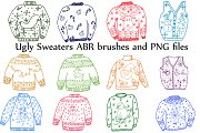 Ugly Sweater ClipArt and ABR brushes