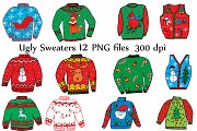 Ugly Christmas Sweater Clipart