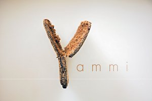 Letter Y made out of bread