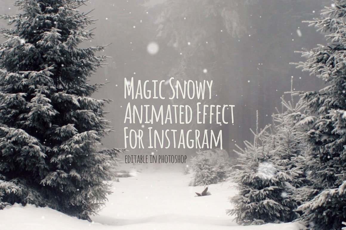 Snowy animated effect for instagram graphics creative market ccuart Gallery