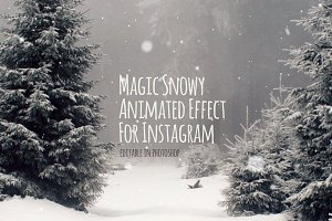 Snowy Animated Effect for Instagram
