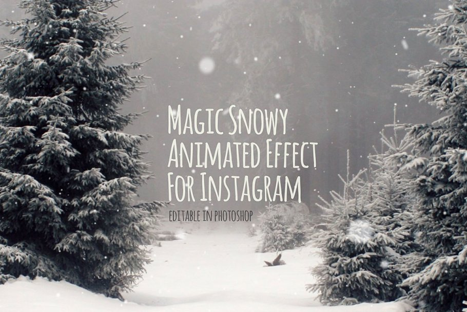 Snowy Animated Effect for Instagram in Graphics - product preview 8