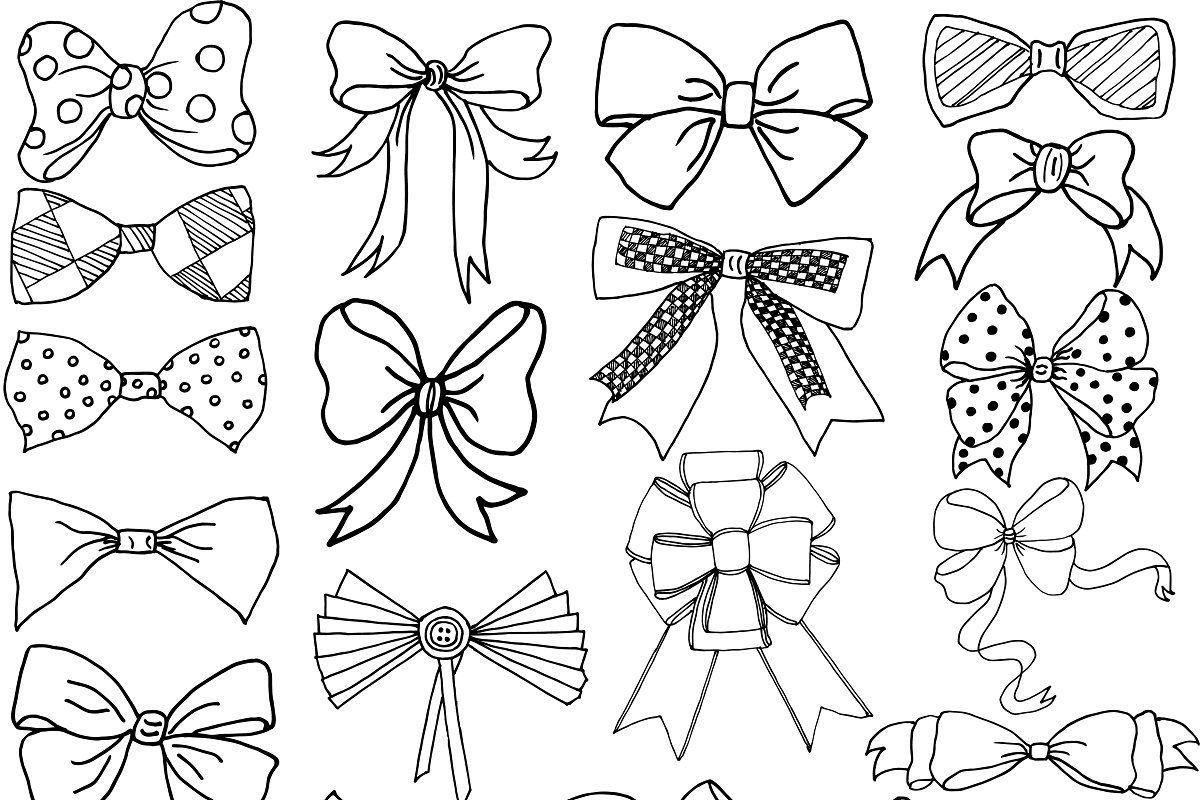 Bow clip art and Vector files in Illustrations - product preview 8