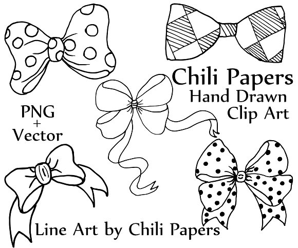 Bow clip art and Vector files in Illustrations - product preview 1